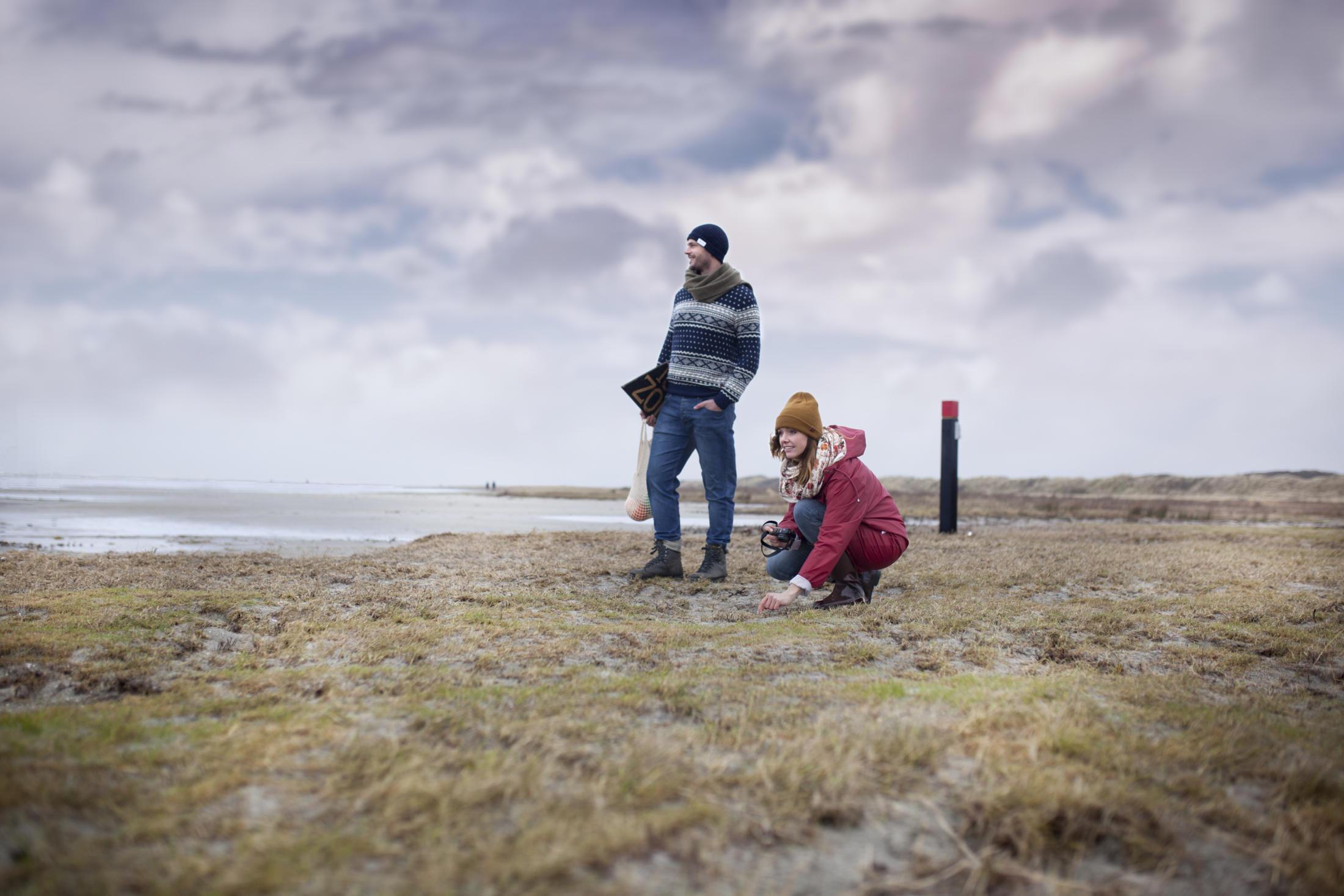 strandjutten Joep en Lotte